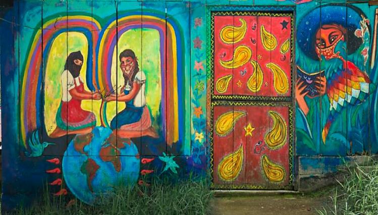 Mural: Gustavo Chavez Pabon, Chiapas, Mexico