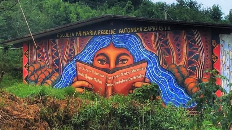 Mural y foto Gustavo Chavez Pabon